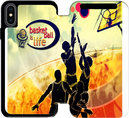 Wallet Case Basketball is life for Iphone Xs Max