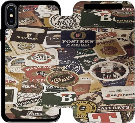 Wallet Case Beers of the world for Iphone Xs Max