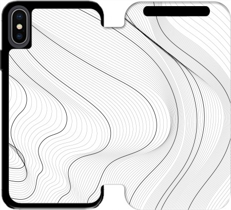 Wallet Case Black Lines for Iphone Xs Max