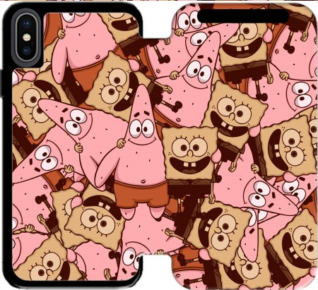 Wallet Case Chocolate Bob and Patrick for Iphone Xs Max
