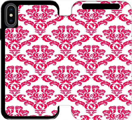 Wallet Case Damask Red for Iphone Xs Max