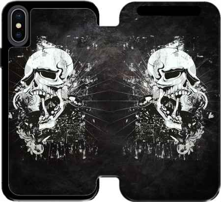 Wallet Case Dark Gothic Skull for Iphone Xs Max