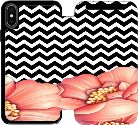 Wallet Case flower power and chevron for Iphone Xs Max