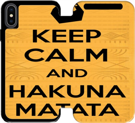 Wallet Case Keep Calm And Hakuna Matata for Iphone Xs Max