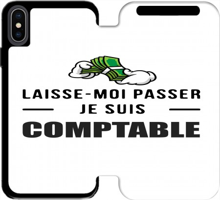 Wallet Case Laisse moi passer je suis comptable for Iphone Xs Max