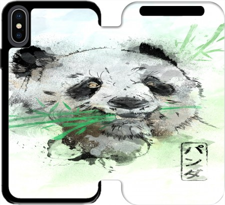 Wallet Case Panda Watercolor for Iphone Xs Max