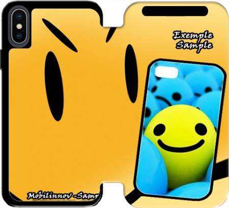 Wallet Case Smiley - Smile or Not for Iphone Xs Max