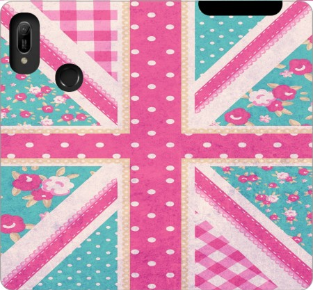 Wallet Case British Girls Flag for Huawei Y6 2019