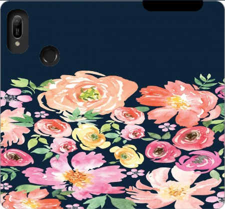 Wallet Case Initiale Flower for Huawei Y6 2019