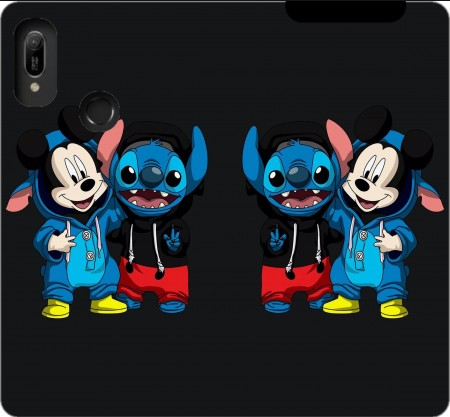 Wallet Case Stitch x The mouse for Huawei Y6 2019