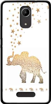 Gatsby Gold Glitter Elephant Case for Wiko Tommy 2