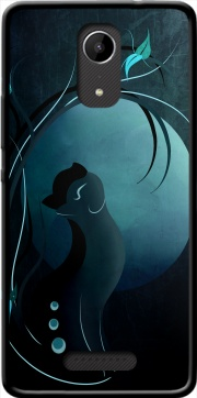 Sensual Cat in the Moonlight  Case for Wiko Tommy 2