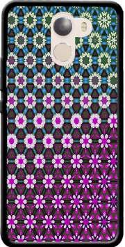 Abstract bright floral geometric pattern teal pink white Wileyfox Swift 2x Case