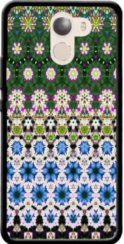 Abstract ethnic floral stripe pattern white blue green Wileyfox Swift 2x Case