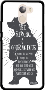 Be Strong and courageous Joshua 1v9 Bear Case for Wileyfox Swift 2x