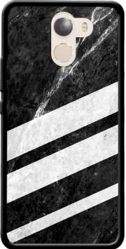 Black Striped Marble Case for Wileyfox Swift 2x