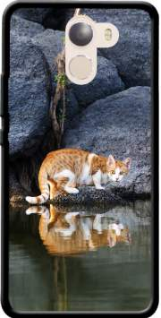Cat Reflection in Pond Water Wileyfox Swift 2x Case