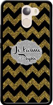 chevron gold and black - Je t'aime Papa Case for Wileyfox Swift 2x
