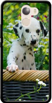 Cute Dalmatian puppy in a basket  Case for Wileyfox Swift 2x