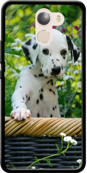 Case Cute Dalmatian puppy in a basket  for Wileyfox Swift 2x