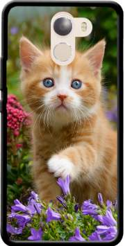 Cute ginger kitten in a flowery garden, lovely and enchanting cat Case for Wileyfox Swift 2x