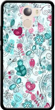 doodle flowers and butterflies Case for Wileyfox Swift 2x