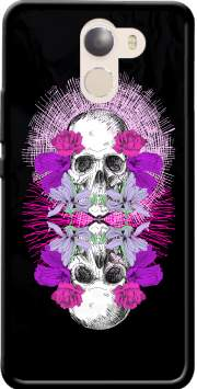 Flowers Skull Case for Wileyfox Swift 2x