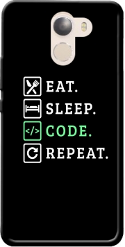 Eat Sleep Code Repeat Case for Wileyfox Swift 2x
