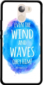 Even the wind and waves Obey him Matthew 8v27 Case for Wileyfox Swift 2x