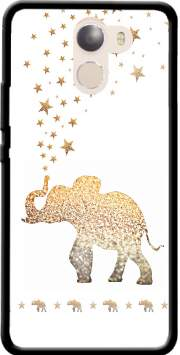 Gatsby Gold Glitter Elephant Case for Wileyfox Swift 2x
