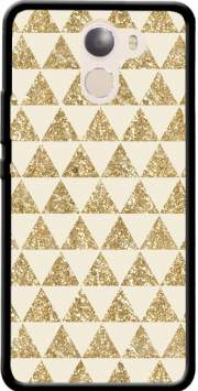 Glitter Triangles in Gold Case for Wileyfox Swift 2x