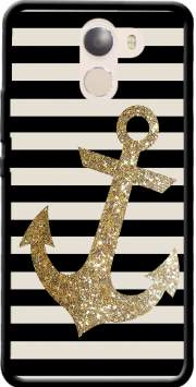 gold glitter anchor in black Case for Wileyfox Swift 2x