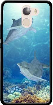 happy dolphins Case for Wileyfox Swift 2x