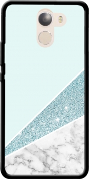 Initiale Marble and Glitter Blue Case for Wileyfox Swift 2x