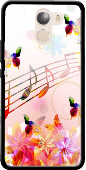 Case Musical Notes Butterflies for Wileyfox Swift 2x