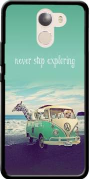 Never Stop Exploring - Lamas on Holidays Case for Wileyfox Swift 2x