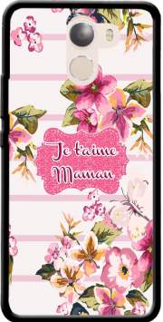 Pink floral Marinière - Je t'aime Maman Case for Wileyfox Swift 2x