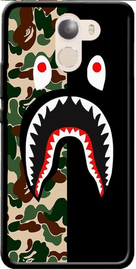 Case Shark Bape Camo Military Bicolor for Wileyfox Swift 2x