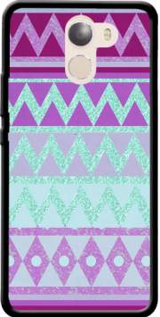 Tribal Chevron in pink and mint glitter Case for Wileyfox Swift 2x