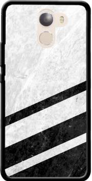 White Striped Marble Wileyfox Swift 2x Case