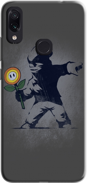 Case Banksy Flower bomb for Xiaomi Redmi Note 7