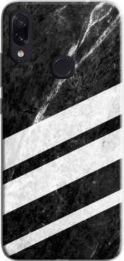 Black Striped Marble Xiaomi Redmi Note 7 Case