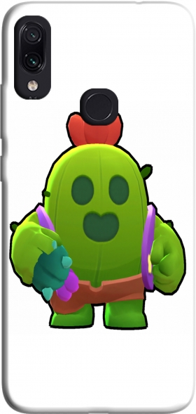 Case Brawl Stars Spike Cactus for Xiaomi Redmi Note 7