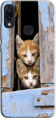 Cute curious kittens in an old window Case for Xiaomi Redmi Note 7