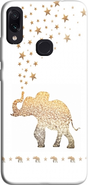 Gatsby Gold Glitter Elephant Case for Xiaomi Redmi Note 7
