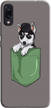 Husky Dog in the pocket Case for Xiaomi Redmi Note 7