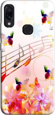 Musical Notes Butterflies Case for Xiaomi Redmi Note 7