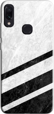 White Striped Marble Xiaomi Redmi Note 7 Case