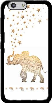 Gatsby Gold Glitter Elephant Case for Zte Blade A512