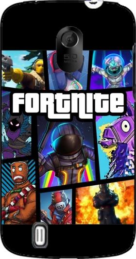 Fortnite - Battle Royale Art Feat GTA case for ZTE Blade III